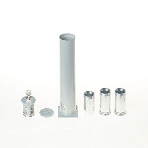 Bodentresor, Rohrtresor Carl 300, 3 Geldbomben, HxBxT 331x63x63 mm, Profilhalbzylinder, Grau