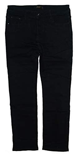 Voggo Damen Stretch Jeans Hose, schwarz W2358, Gr.48