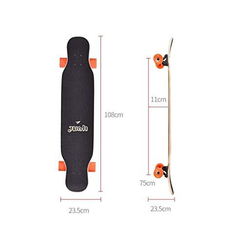 Huab Outdoor Skateboards Komplettes Skateboard Erwachsene Professionelle Skateboard Cruiser 108 Cm Deck Einseitige Bürste Straße Langes Brett Kind Anfänger Geschenk - Lebhafte Katze,Schwarz