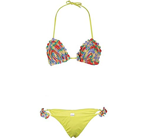 F**K Bikini Donna effek Costume Piscina Triangolo Uncinetto Slip Brasiliano