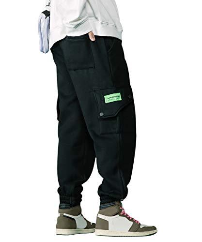 Irypulse Unisex Thicken Cargo Hosen Kampfhose Baggy Casual Trousers Trendige Streetwear Pants für Männer Frauen Jugendliche Herbst Winter