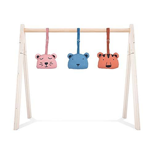 Jollein Spielzeug für Babygym 3er Set Model A Animal club rouge