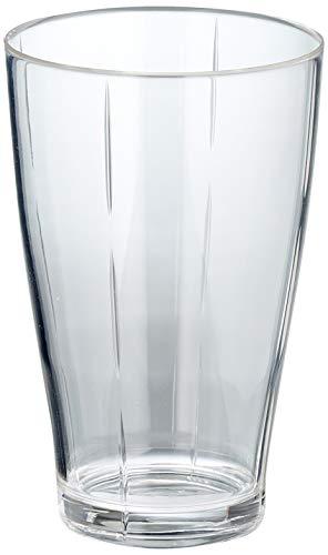 AKIPLAST C6 Verre à bière 50 cl Lisse, Noir, Standard