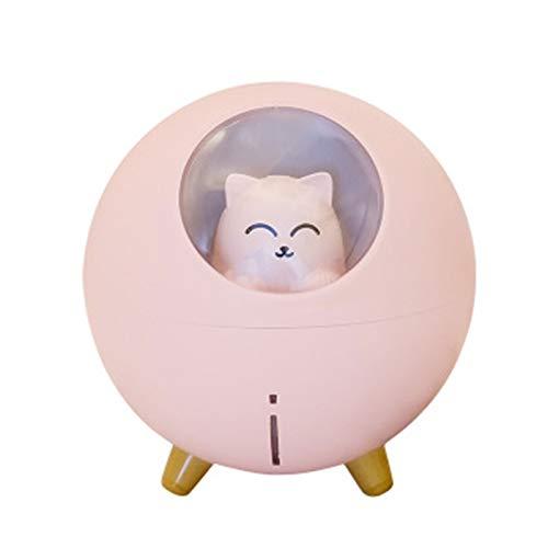S HOME Humidificador de Dormitorio, pequeño humidificador USB de Mini Spray planetario Gato Lindo Animal doméstico, se Puede Utilizar como humidificador para Dormitorio, Cocina, Dormitorio de Coche