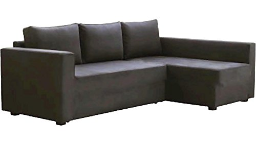 HomeTown Market The Dark Gray Manstad Cover Replacement is Custom Made Compatible for IKEA Manstad Sofa Bed, Or Sectional, Or Corner Slipcover. (Sofa Left Arm Longer)