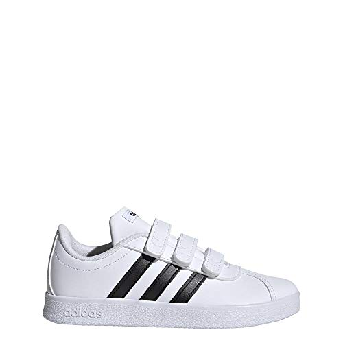 Adidas VL Court 2.0CMF I–Tennisschuh, Kinder, Weiß (Ftwbla/negbas/Ftwbla), 27