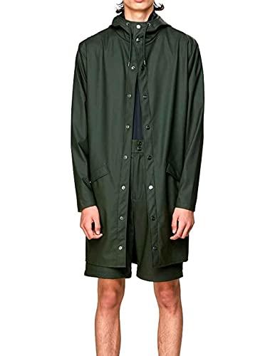 Rains Long Jacket, impermeable Hombre, verde, Large/Extra Large (Talla...