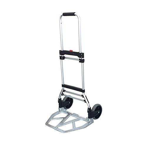 Carrello Pieghevole professionale Da Trasporto Portapacchi Carrellino In Alluminio Max 120 Kg