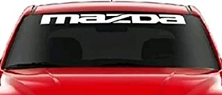 GY Vinyl Arts,Mazda, Windshield,Decals, Cars,Stickers, Banners Compatible,Mazda, Cars
