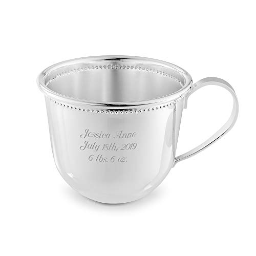 Things Remembered Personalized Silver Baby's First Cup with Engraving Included