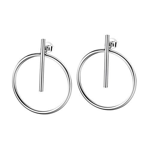 Pendientes Lotus Silver de plata 925 LP1935-4/1 con círculo D3JLP1935-4-1, de plata