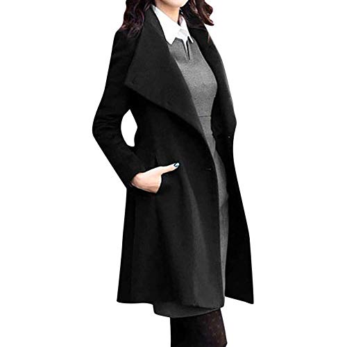 Adelina wol mantel normale vorm lange tweed mantel met reverskraag vrouwen elegante mode complex over de maten warme knopen winter jas winterjas wollen jas overgangsjas met riem