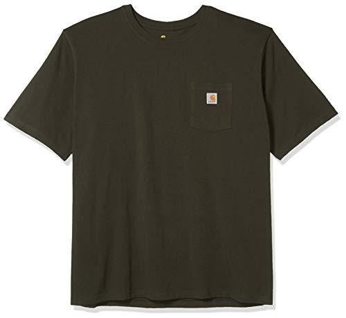 Carhartt Pocket Short-Sleeve T-Shirt Camiseta, Peat, M para Hombre
