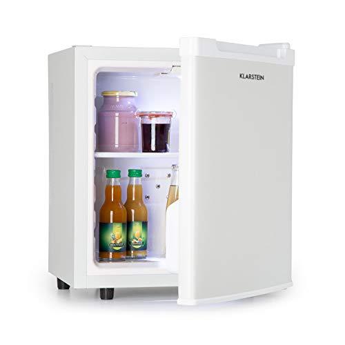 Klarstein Silent Cool Minibar Minikoelkast Mini snacks en drankjes koelkast (2 niveaus, 4,5-15 ° C continu, temperatuurregelaar, 30 liter, 24dB stille werking, ruimtebesparend) wit