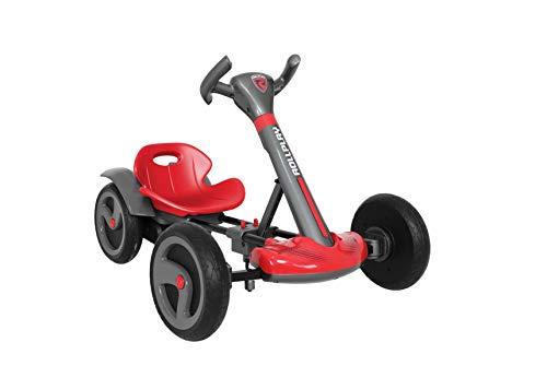 ROLLPLAY 26441 Flex Kart, 6-Volt-Elektroauto, klappbar, ab 2 Jahre, bis zu 3 km/h, inklusiv Akku und Ladegerät, Schwarz