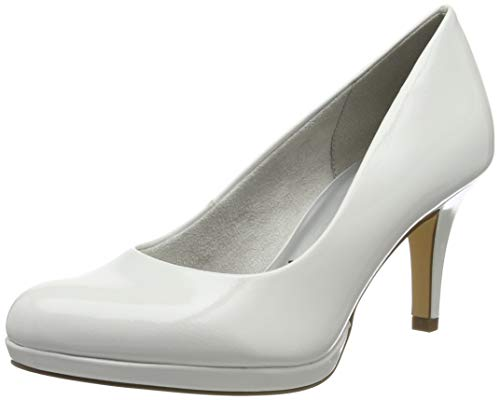 Tamaris Damen 1-1-22444-23 123 Pumps, Weiß (White Patent 123), 39 EU