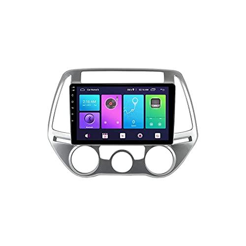 Radio Multimedia Reproductor estéreo para automóvil Receptor FM Bluetooth Voz Navegación GPS Soporte WiFi Conexión USB Enlace Espejo Google Maps para Hyundai i20 2009-2013,4 Core 4G + WiFi: 1
