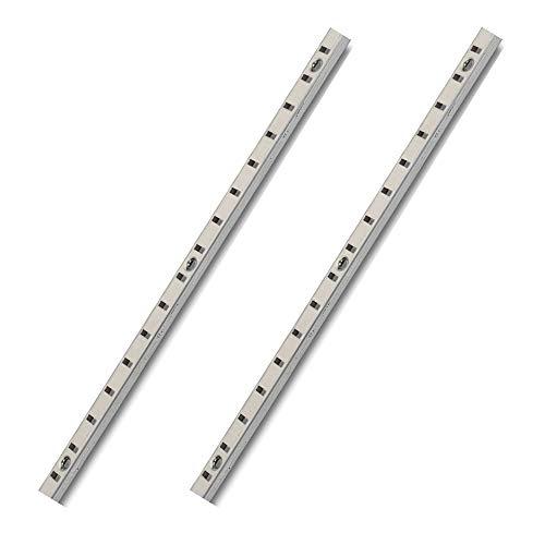 Gedotec VARI - Riel de pared de metal para atornillar y empotrar, 1500 mm de largo, acero niquelado, 2 unidades