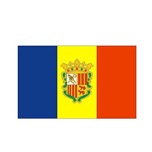 LGLGXR 12.8cmx7.7cm Styling Andorra Flag Funny Car Pegatina de Auto Accesorios