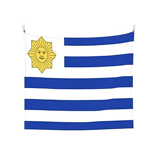 I love the Uruguay-Flagge Tapisserie Wandbehang Tarot Boho Beliebte Mystic Trippy Yoga Hippie Wandteppiche für Wohnzimmer Schlafzimmer Wohnheim Heimdekor Schwarz & Weiß Stranddecke