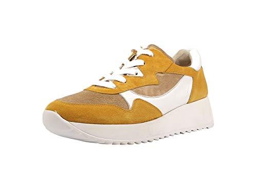 Paul Green Damen Sneaker 4949, Frauen Low-Top Sneaker, schnürer schnürschuh sportschuh Plateau-Sohle weibliche Ladies,Marigold/Grain,40 EU / 6.5 UK