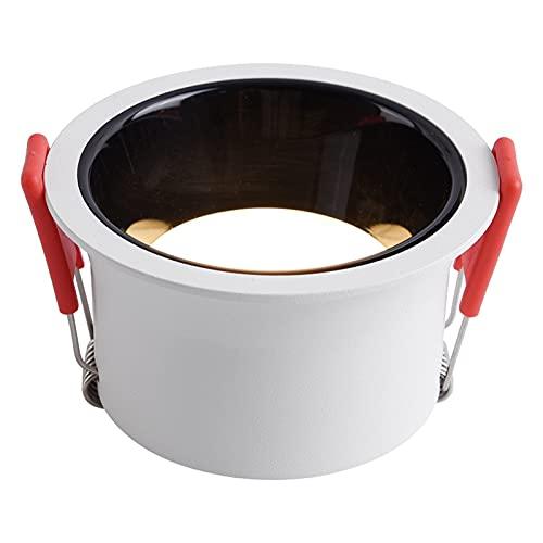 Xiniufsd Downlight Dimmable Redondo Anti deslumbramiento Empotrado LED Downlight 5W 9W 15W 85-265V COB COBILLO Cocina DE Cocina DE Cabeza Interior (Body Color : White, Emitting Color : 6000k)