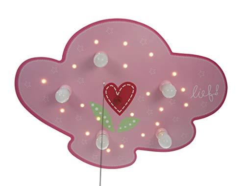 Niermann Standby 784 Plafondlamp Wolken, Lief For Girls, Meerkleurig