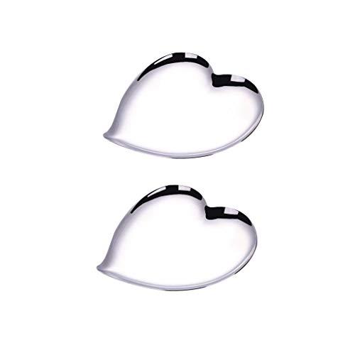 Fenteer 2 Piezas Corazón - Canasta de Frutas de Acero Inoxidable - Diseño Moderno con Forma Linda - Centro de Decorativo para Encimera