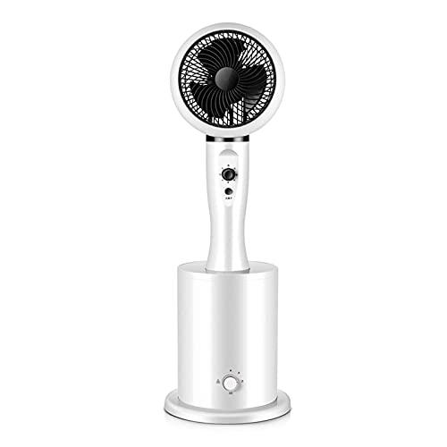 CHNG Ventilador de Pedestal de 3 velocidades con nebulización, oscilación 3D Ventilador de refrigeración con circulación de Aire para Toda la habitación para Uso en el Dormitorio de la Oficina en