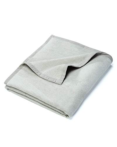 myHomery Uni Kuscheldecke - Decke fürs Sofa - Wolldecke warm & kuschelig - Sofadecke XL Grau | 150x200 cm