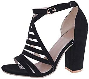 YUE L STAR Leather Viscose Shoes, Girls high Heel Sandals