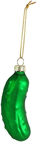 Ornativity Christmas Pickle Tree Ornament Traditional Glass Blown Green Hanging Pickle Ornaments product image