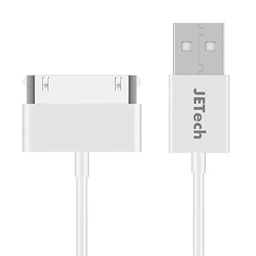 JETech USB Sync and Charging Cable Compatible iPhone 4/4s, iPhone 3G/3GS, iPad 1/2/3, iPod, 3.3 Feet (White)