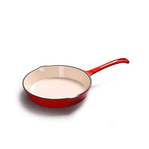 Wok con coperchio, Manico Lungo Ghisa, Fornello Grill Pan, Padella Padella Antiaderente Bistecca Grill, Stufa Cottura Pan (Colore: A) (Colore: A)