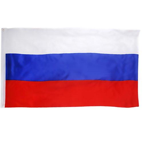 【ノーブランド品】ロシア国旗 ロシアフラグ 吊り下げ用の大きなロシア国旗ロシアバナー 装飾 150 * 90センチメ