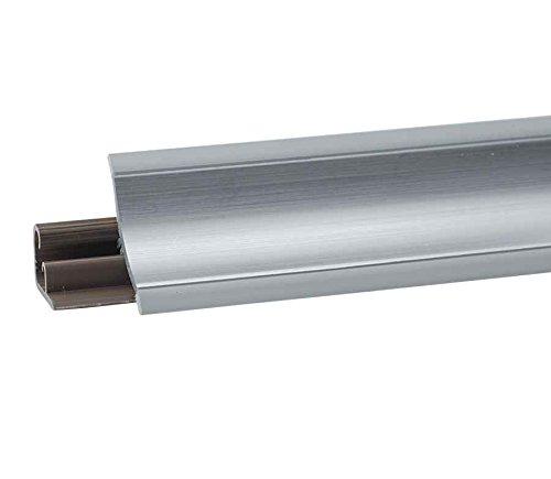 HOLZBRINK Küchenabschlussleiste 1,5m Winkelleiste Tischplattenleisten UPS DPD Küchen Arbeitsplatten PVC Leiste 23 x 23mm LB23-610 ALUMINIUM