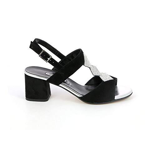 GRUNLAND SA1429 Sandalo Tacco Donna Nero 38