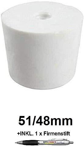 Beste Angebote Gummistopfen Gummikorken Gärspund Gärverschluss Stopfen Gäraufsatz [10 Größe] (51/48mm)