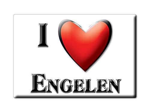 Enjoymagnets ENGELEN (N) Souvenir IMANES DE Nevera Holanda NOORD Brabant IMAN Fridge Magnet Corazon I Love