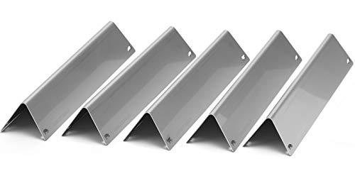 Premium Aromaschienen aus V2A Edelstahl rostfrei, lasergeschnitten, Flavorizer Bars passend für Gasgrill Weber Genesis II 310/320/330 ab Modelljahr 2013 (5 Stück)
