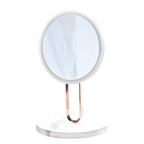 Miroirs de poche Miroir de Maquillage - Base en marbre Miroir Miroir métal Ballet Support vanité Miroir Luxe Coiffeuse décoration Bureau LED Miroir de Maquillage