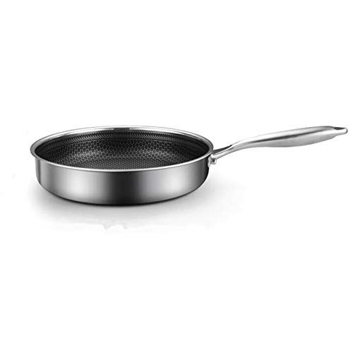 304 Studio en acier inoxydable Induction Ménage Compatible Pan Multipetic Pan Multipurpose Cookware UTILISATION POUR LA CUISINE RESTAURANT (Color : 28CM)