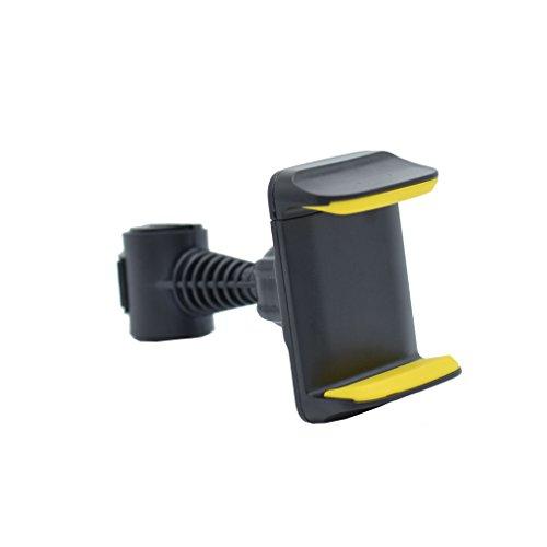 Buwei 360 ° Soporte Giratorio para reposacabezas de Asiento Trasero de Coche para teléfono móvil GPS 3,5'-6'