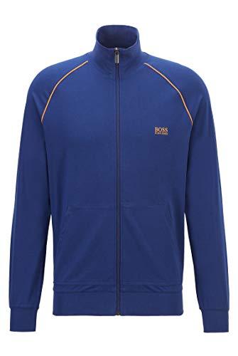 BOSS Herren Mix&Match Jacket Z Regular-Fit Loungewear-Jacke aus elastischer Baumwolle