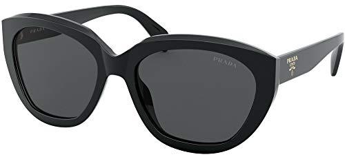 Prada Women's 0PR 16XS Sunglasses, Black/Grey, 56