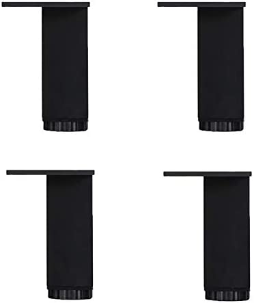 CRKY Outlet ☆ Free Shipping Square Furniture feet DIY Legs Me Limited time sale Adjustable Support Black