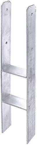 GAH-Alberts 205010 H-Pfostenträger   feuerverzinkt   lichte Breite 71 - 161 mm   Gesamthöhe 600 - 800 mm   Materialstärke 4 - 8 mm   lichte Breite 141 mm   Gesamthöhe 800 mm   Materialstärke 8 mm