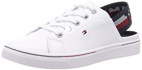 Tommy Hilfiger Sling Back Tommy Sneaker, Zapatillas para Mujer, Blanco (White Ybs), 41 EU
