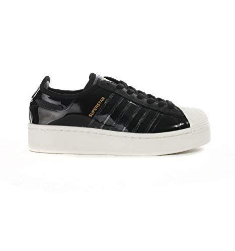 adidas Originals Superstar Bold Damen Trainers Sneakers (UK 4.5 US 6 EU 37 1/3, Black Black White FW8423)
