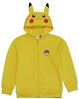 Pokemon Boys  Pikachu Costume Hoodie Yellow  8
